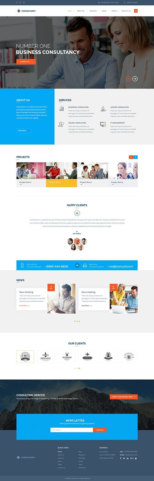Consultancy - Consulting WordPress Theme