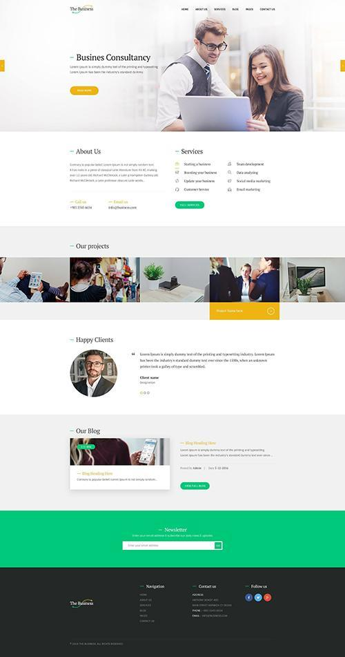 The Business | Corporate & Business WordPress Theme