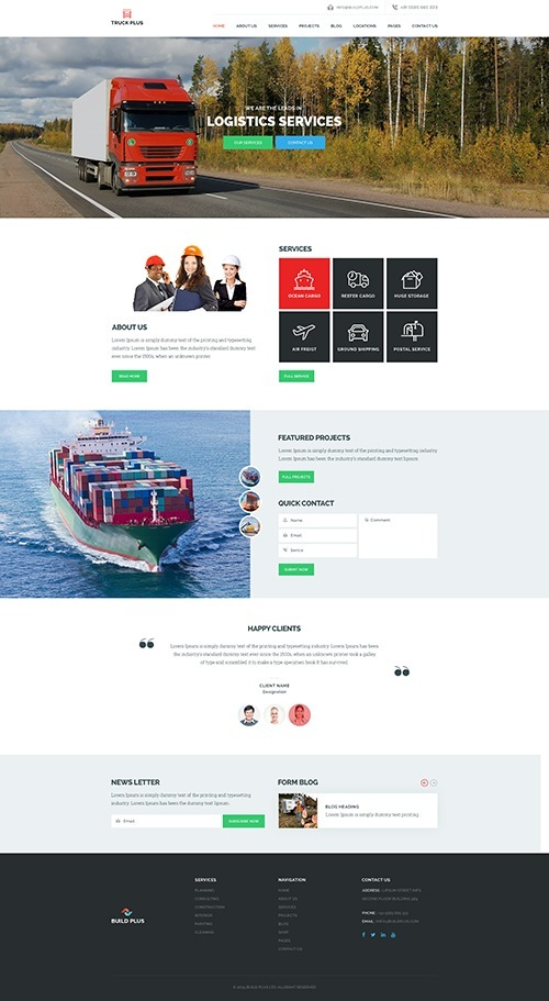 Truck Plus - Logistics & Transportation WordPress Theme